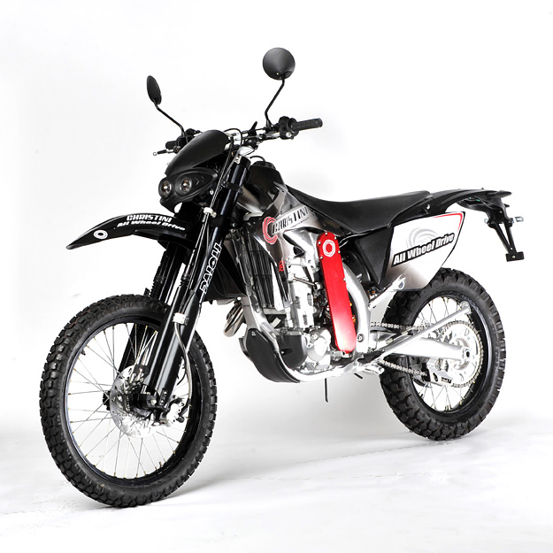 Two wheel drive motorcycle