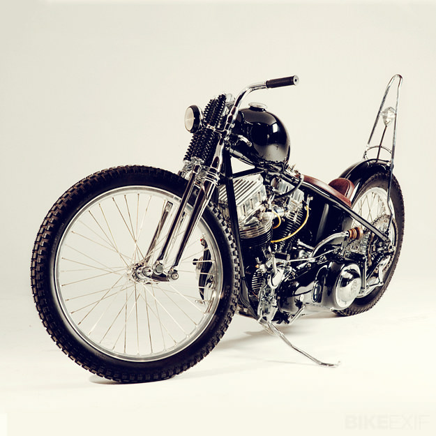 Siksika: a 1956 Harley Panhead by Cro Customs