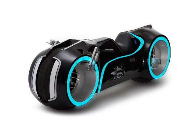 The Tron motorcycle by Parker Brothers