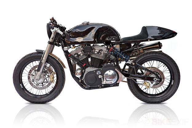The first US-built machine from Deus Motorcycles is this Harley-powered cafe racer.