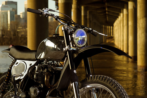 Vintage dirt bike