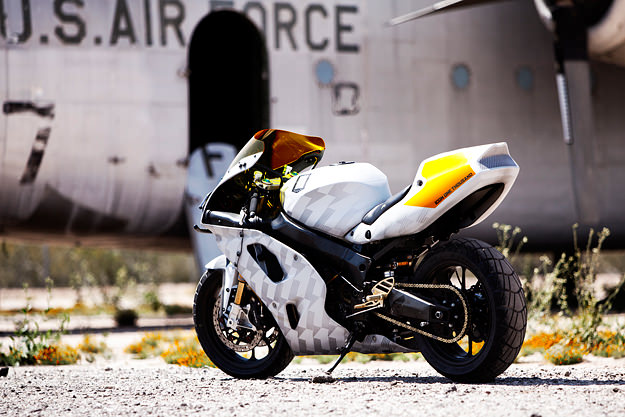 Kawasaki ZX7 custom motorcycle