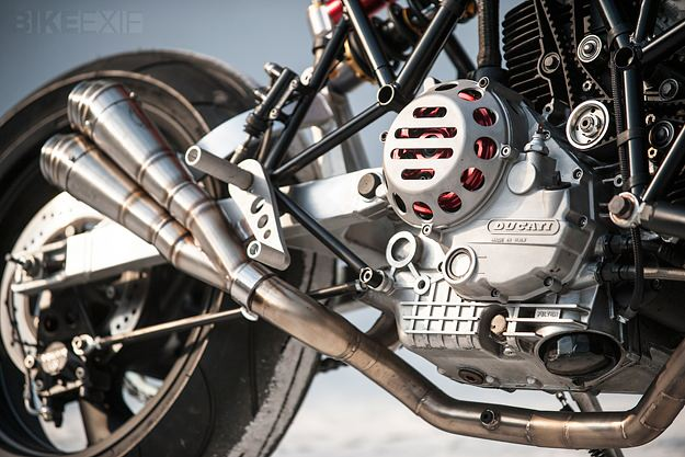 Ducati 900SS custom with hub center steering