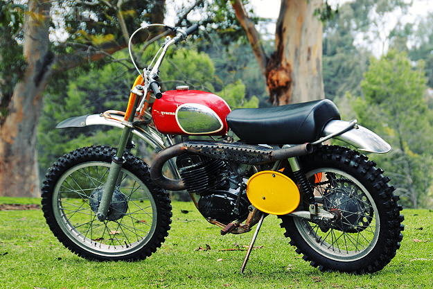 The 1970 Husqvarna 400 Cross has become famous as the 'Steve McQueen motorcycle'.