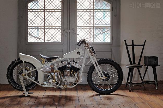 Harley Flathead snow bike by Ehinger Kraftrad
