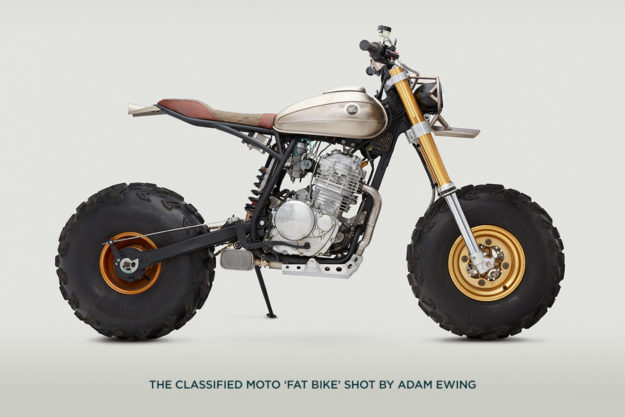 Get your bike online, alongside this Classified Moto 'Fat Bike' photographed by Adam Ewing.