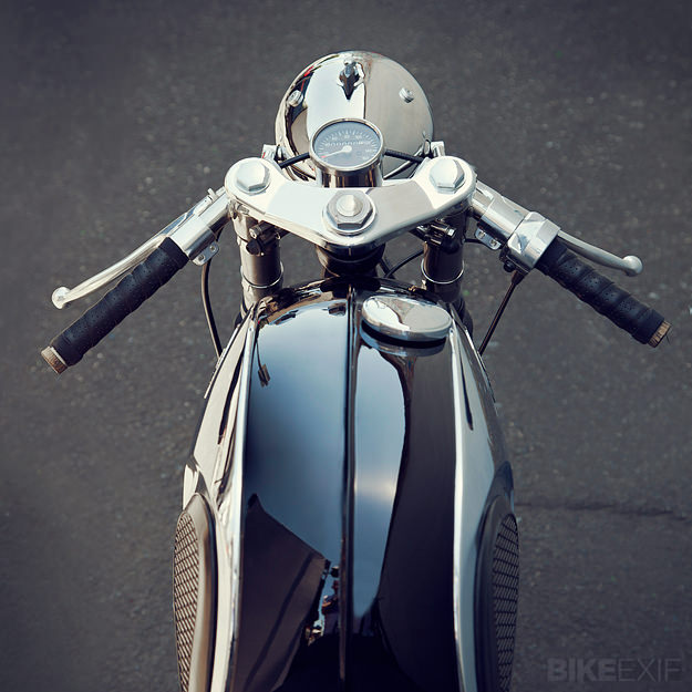 Honda CB77 Super Hawk cafe racer by Mid Life Cycles
