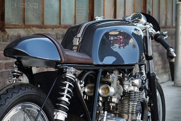 Honda CB550 custom motorcycle