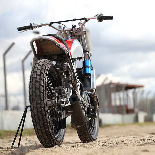 Flat track racer motorcycle