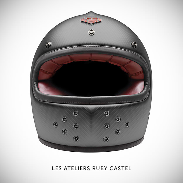 Ruby motorcycle helmet
