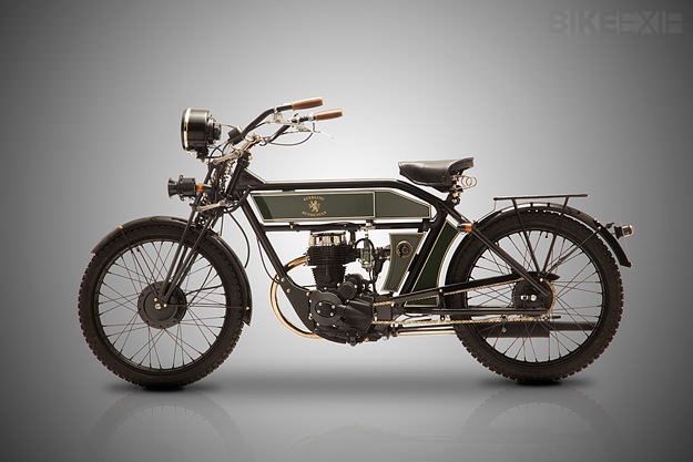 The Black Douglas, a vintage style motorcycle assembled in Italy.