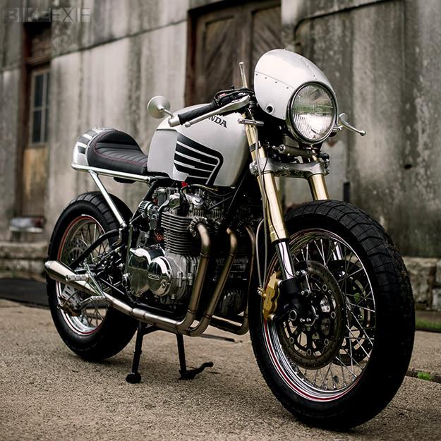 Honda CB550 cafe racer by Meyerbuilt Metalworks