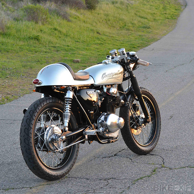 Honda CB350 cafe racer by Gasser Customs