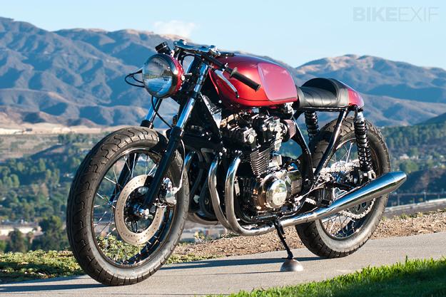 The Valentino: A custom Honda CB750 DOHC from Dustin Kott