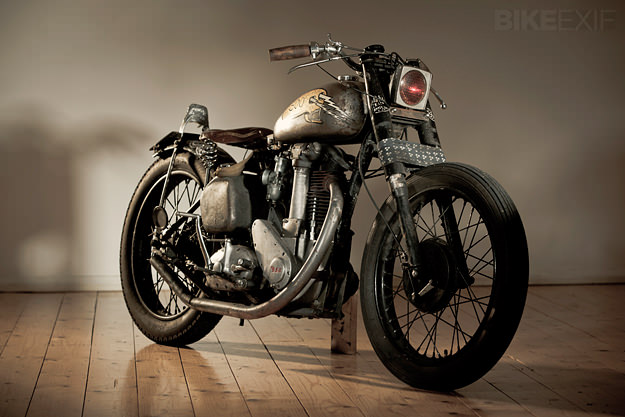 Custom BSA motorcycle