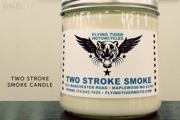 Two Stroke motorcycle candle
