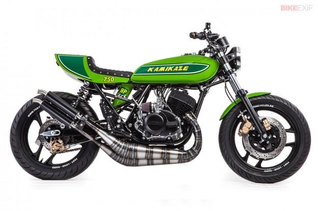 Kamikaze: Kawasaki H1 cafe racer