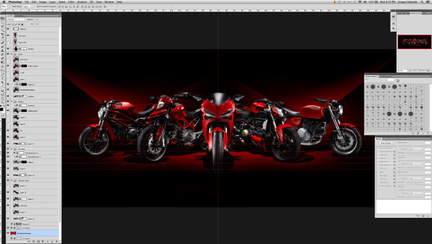 Motorcycle photography Photoshop