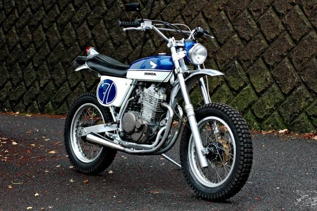 Scrambler motorcycle by Speedtractor