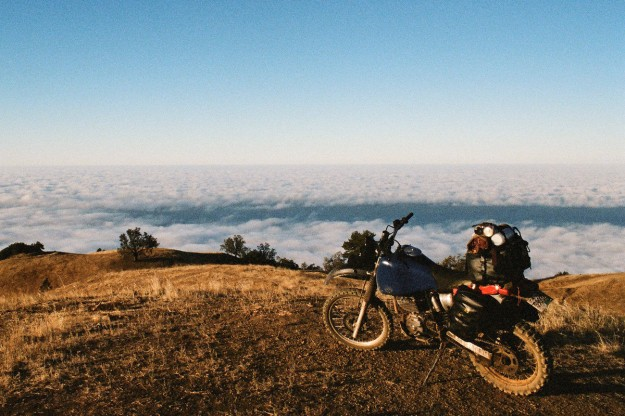 Adventure motorcycles at altitude