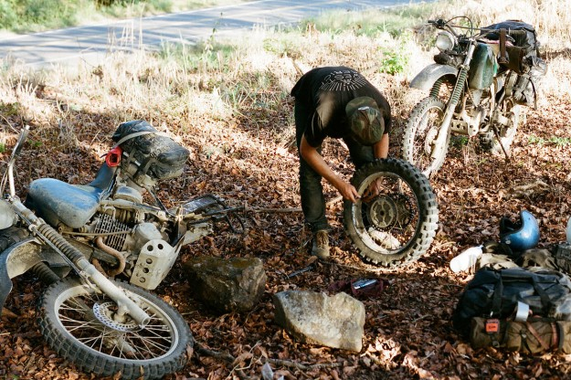 Adventure motorcycle repair