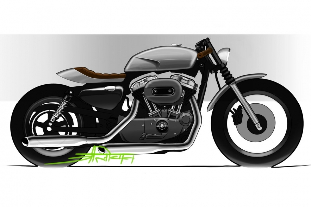 How to design a Harley cafe racer
