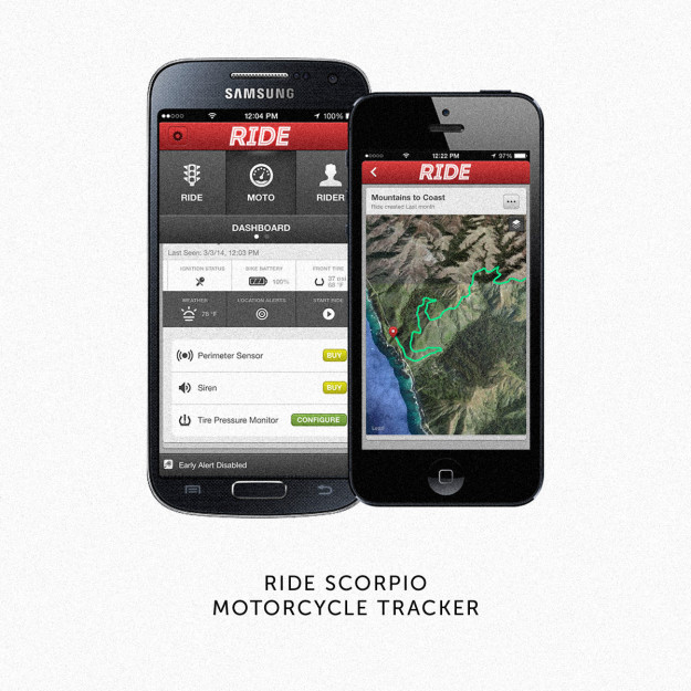 Ride Scorpio motorcycle tracker