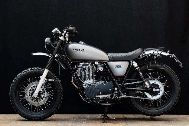 New Yamaha SR400 customized by Wrenchmonkees