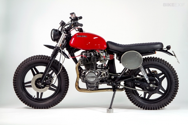 Honda CB400N customized by the Italian motorcycle builder Officine Mr. S