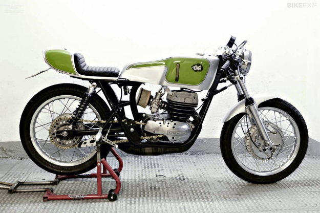 Custom Ossa 2-stroke motorcycle by Cafe Racer Dreams