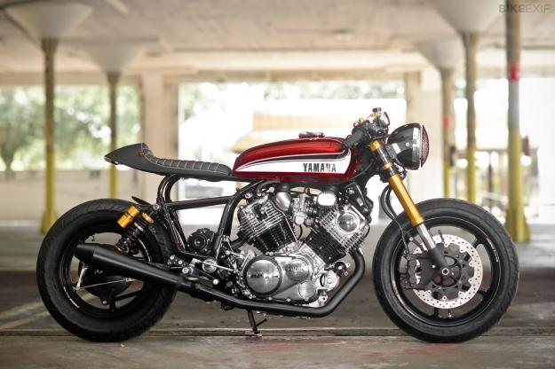 1995 Yamaha Virago XV750 customized by Greg Hageman.
