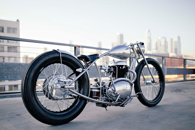 BSA A50 motorcycle customized by Maxwell Hazan.