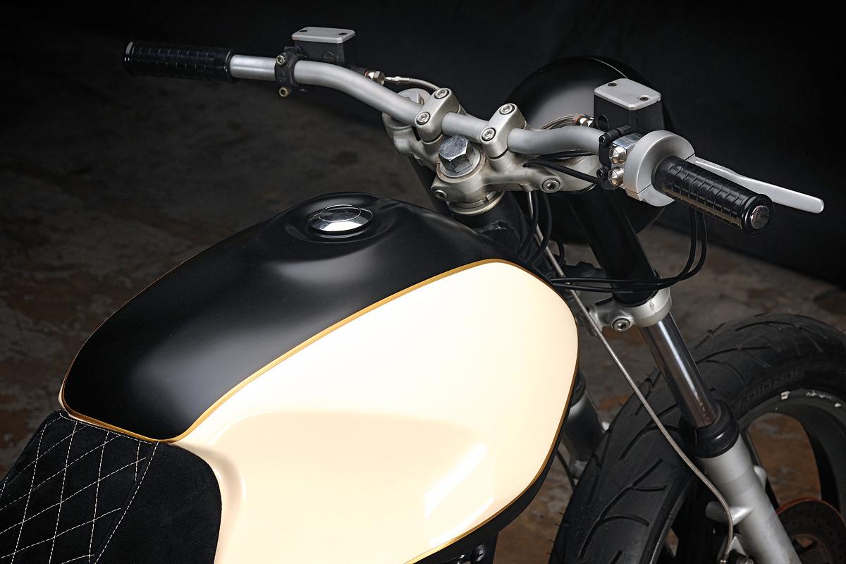 Ducati 650 Pantah customized by the Texas workshop Revival Cycles.
