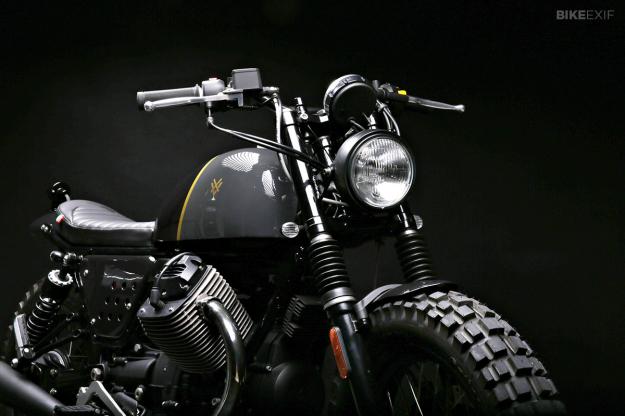Moto Guzzi V7 Stone customized by Stefano Venier.