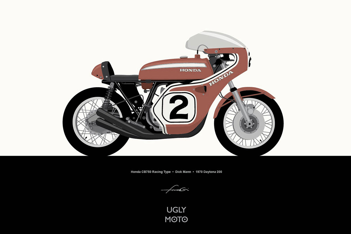 Motorcycle wallpaper by Francis Ooi of Ugly Moto.