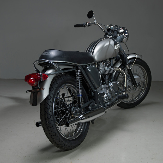 1970 Triumph Tiger restored by Helrich Custom Cycles.