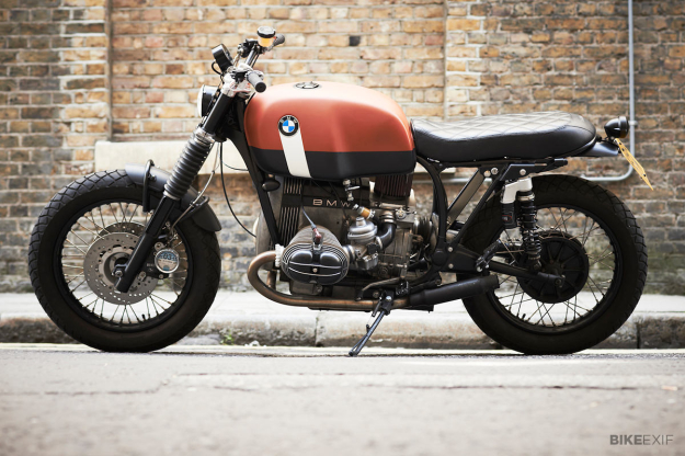 BMW R100 RS customized by the London-based workshop Untitled Motorcycles.