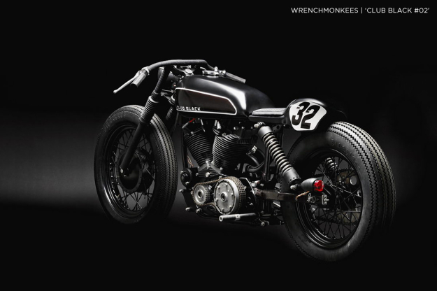 """Club Black #02"" custom motorcycle by the Wrenchmonkees"