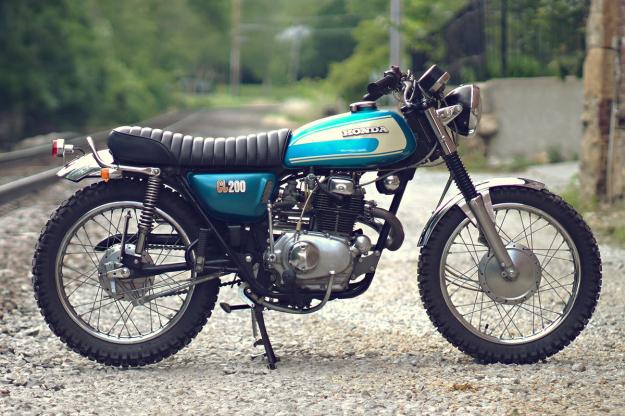 Vintage Honda CL motorcycle