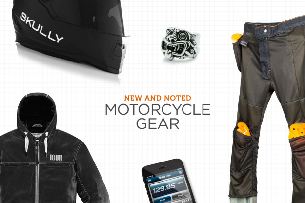 New motorcycle gear