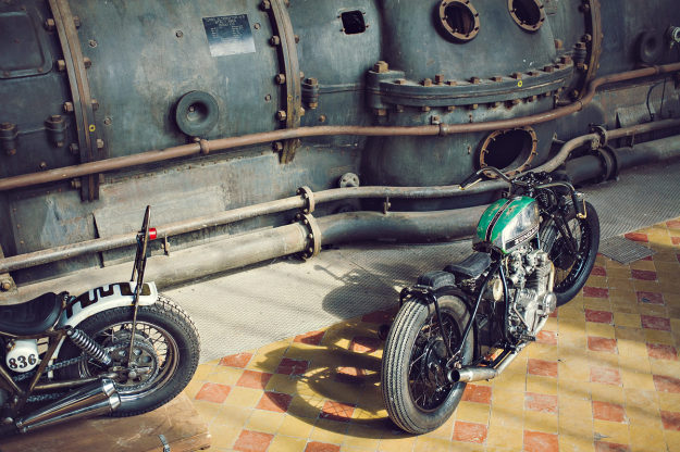 Custom Honda CB550 by Chris Dekker of Holland's Tin Can Customs.