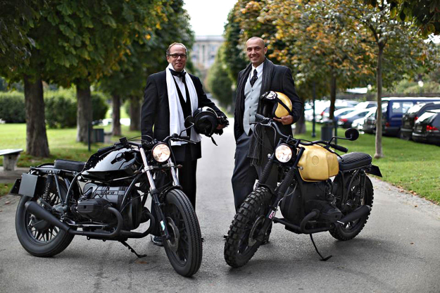 Alex Ahrer and Herwig Prammer of the Austrian custom motorcycle garage Das Traumwerk.