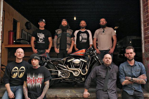 Members of The Kustom Kommune, Australia's first communal motorcycle workshop.