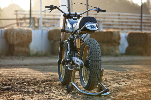 Vintage Husqvarna dirt bike built by Velomacchi.