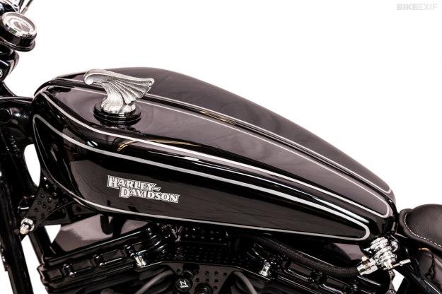 Harley Softail custom 'Brougham' by One Way Machine.
