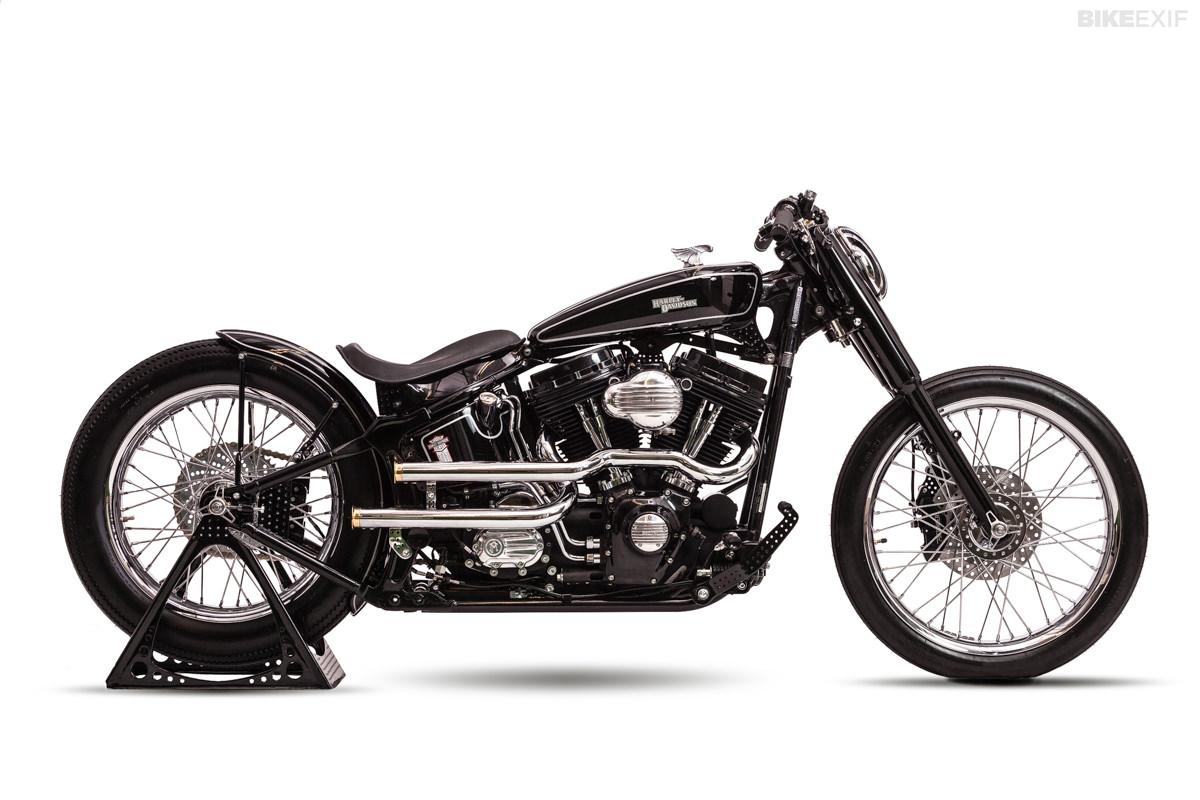 The AMD Championship-winning Harley Softail custom 'Brougham' by One Way Machine.