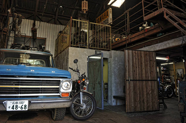 A glimpse into the garage of Heiwa, one of the top Japanese custom motorcycle builders.