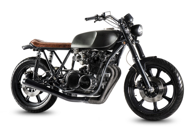 A textbook 'Brat cafe' custom on a surprising base—a Yamaha XS750.