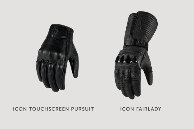 Womens motorcycle gloves by Icon.