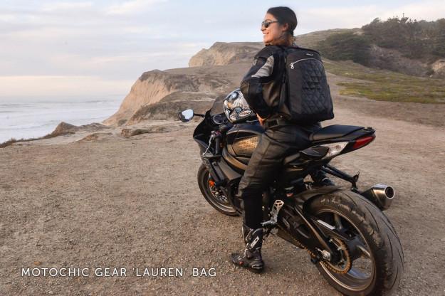 Women's motorcycle gear: The super-stylish MotoChic gear bag.